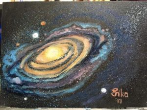 Andromeda painted by Erika Southey